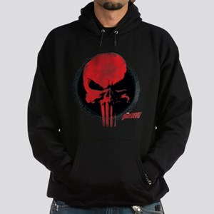 Punisher Skull Red Hoodie (dark)