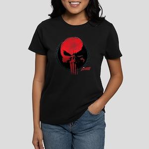 Punisher Skull Red Women's Dark T-Shirt