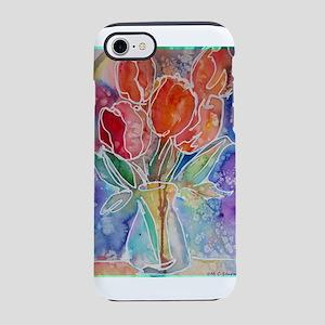 Tulips! Colorful, floral art! iPhone 8/7 Tough Cas