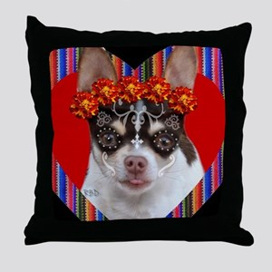 Day of the Dead Chihuahua Throw Pillow