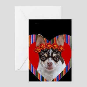 Day of the Dead Chihuahua Greeting Cards