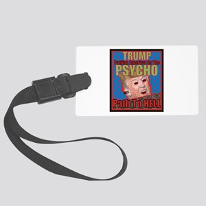 Psycho Trump Large Luggage Tag