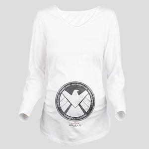 Metal Shield Long Sleeve Maternity T-Shirt