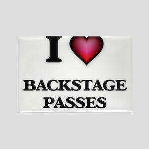 I Love Backstage Passes Magnets