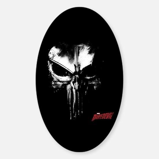 Netflix Punisher Skull Sticker (Oval)