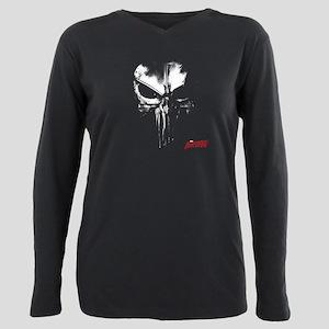 Netflix Punisher Skull Plus Size Long Sleeve Tee
