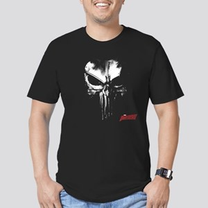 Netflix Punisher Skull Men's Fitted T-Shirt (dark)