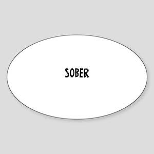 Sober Oval Sticker