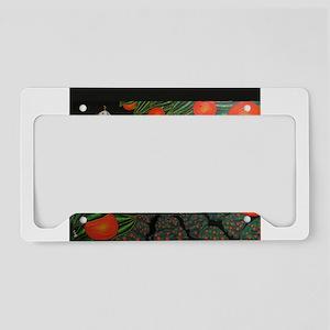 magnet-parade-of-oranges License Plate Holder