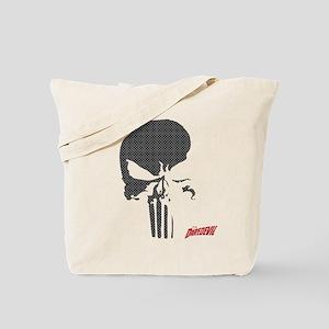Punisher Skull Grid Tote Bag