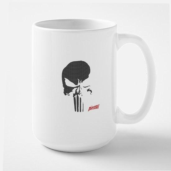 Punisher Skull Grid Large Mug