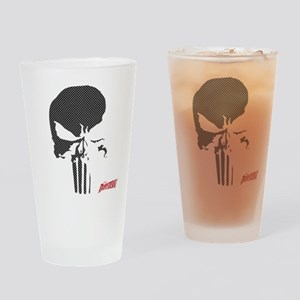 Punisher Skull Grid Drinking Glass
