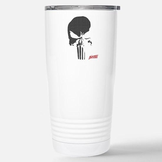 Punisher Skull Grid Stainless Steel Travel Mug