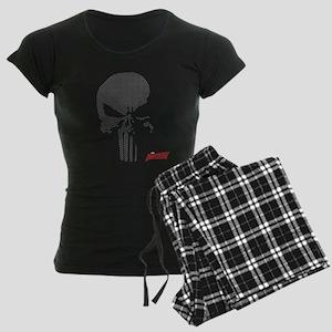 Punisher Skull Grid Women's Dark Pajamas