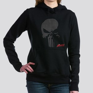 Punisher Skull Grid Women's Hooded Sweatshirt