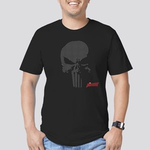 Punisher Skull Grid Men's Fitted T-Shirt (dark)
