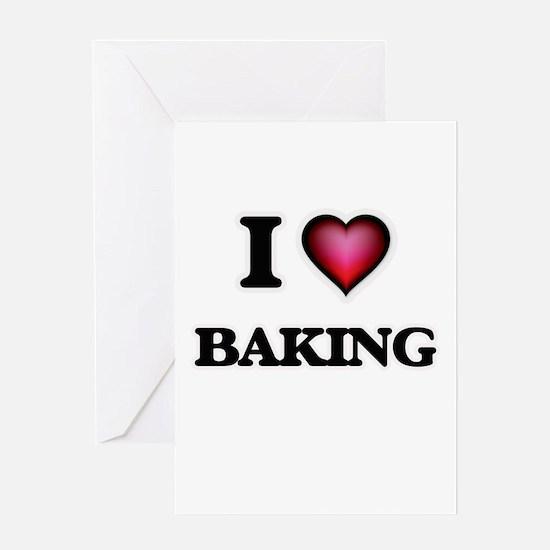 I Love Baking Greeting Cards