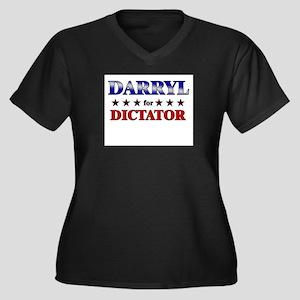 DARRYL for dictator Women's Plus Size V-Neck Dark