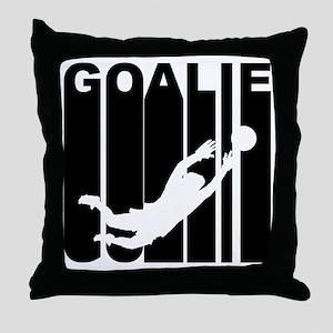 Retro Soccer Goalie Throw Pillow