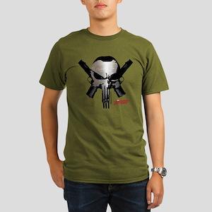 Punisher Skull Guns Organic Men's T-Shirt (dark)