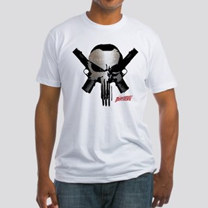 Punisher Skull Guns Fitted T-Shirt