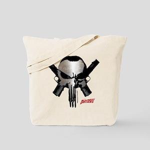 Punisher Skull Guns Tote Bag
