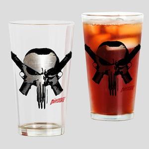 Punisher Skull Guns Drinking Glass