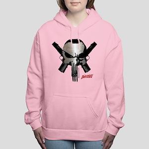 Punisher Skull Guns Women's Hooded Sweatshirt