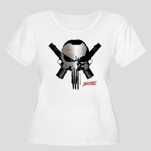 Punisher Skul Women's Plus Size Scoop Neck T-Shirt