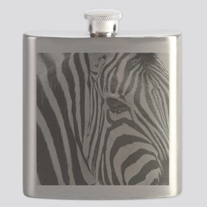 Zebra in Black and White Flask