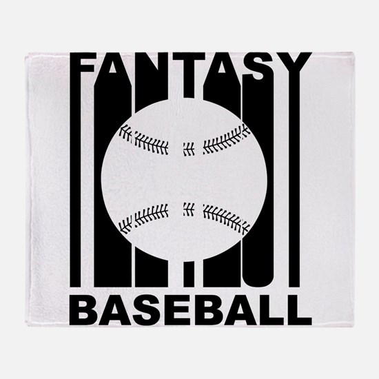 Retro Fantasy Baseball Throw Blanket