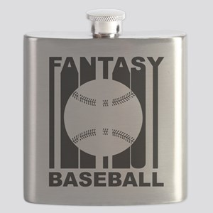 Retro Fantasy Baseball Flask