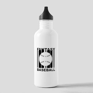 Retro Fantasy Baseball Water Bottle