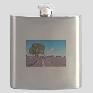 Lavender field Flask