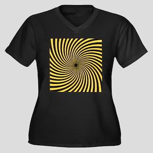 Discordian Women's Plus Size V-Neck Dark T-Shirt