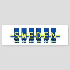 sweden rect Bumper Sticker