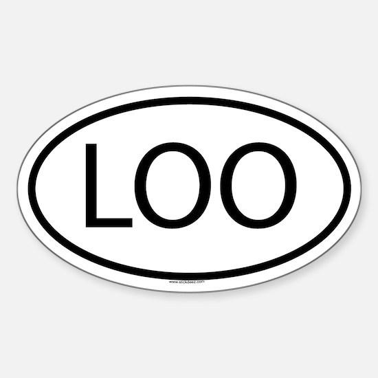 LOO Oval Decal