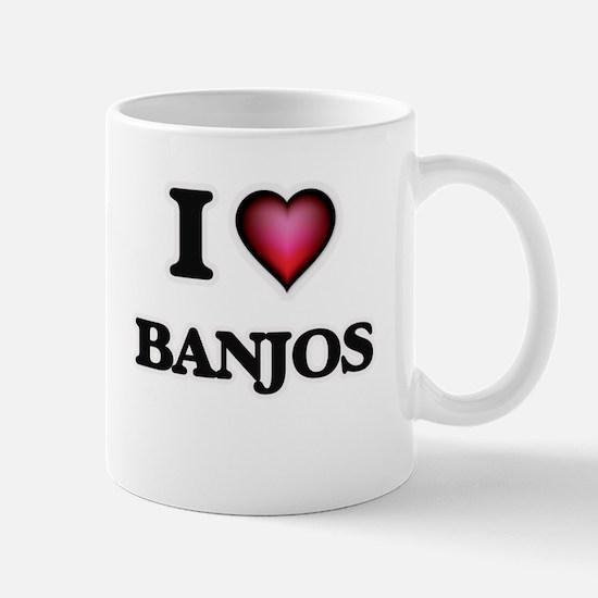 I Love Banjos Mugs