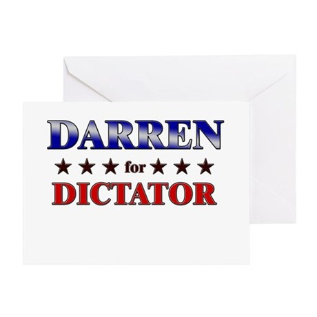 DARREN for dictator Greeting Card