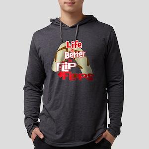 Better in Flipflops Mens Hooded Shirt