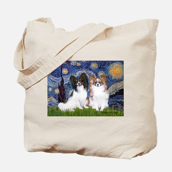 Starry / 2 Papillons Tote Bag