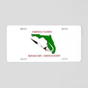 Tripoli Tampa Rocketry Aluminum License Plate