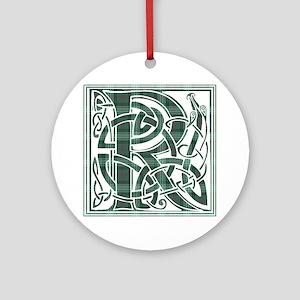 Monogram-Ross hunting Round Ornament