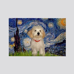 Starry / Havanese Rectangle Magnet