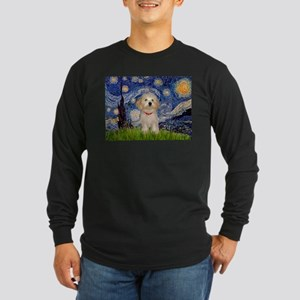 Starry / Havanese Long Sleeve Dark T-Shirt