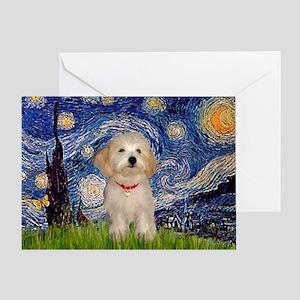 Starry / Havanese Greeting Card