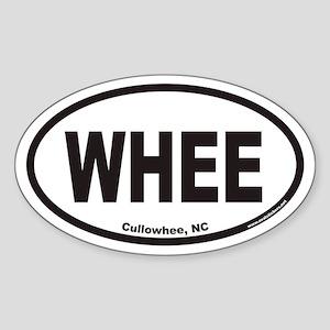 Cullowhee WHEE Euro Oval Sticker