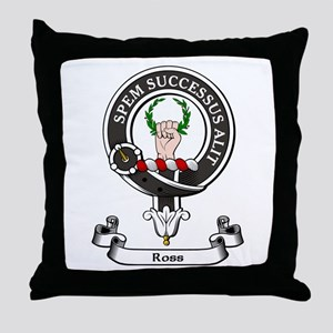 Badge - Ross Throw Pillow