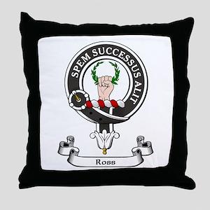 Badge - Ross Throw Pillow