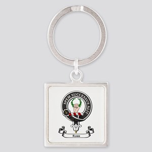 Badge - Ross Square Keychain